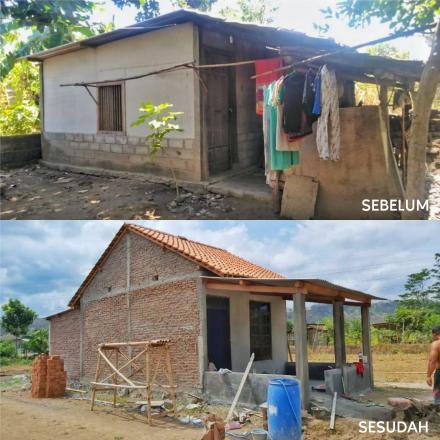 Bedah Rumah Tidak Layak Huni, Pemerintah Desa Srimulyo Kucurkan Dana Desa Secara Rutin