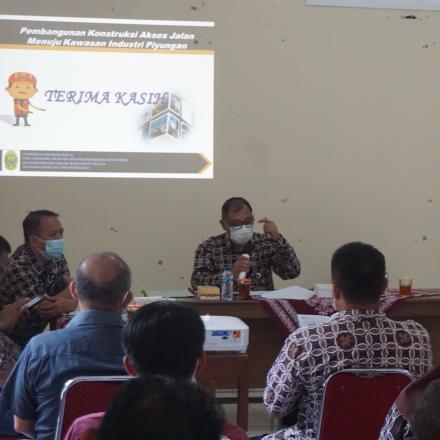 Sosialisasi Pelaksanaan Pekerjaan Jalan Industri oleh Dinas Pekerjaan Umum Kabupaten Bantul